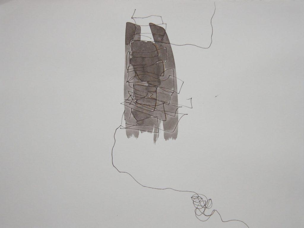 Katharina Hoehler Künstlerin Emmendingen Zeichnung Kampf der Linie