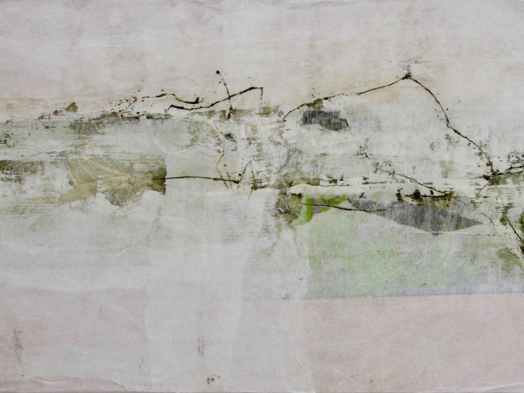 Katharina Hoehler Künstlerin Emmendingen Malerei Landschaft über Holzschnitt