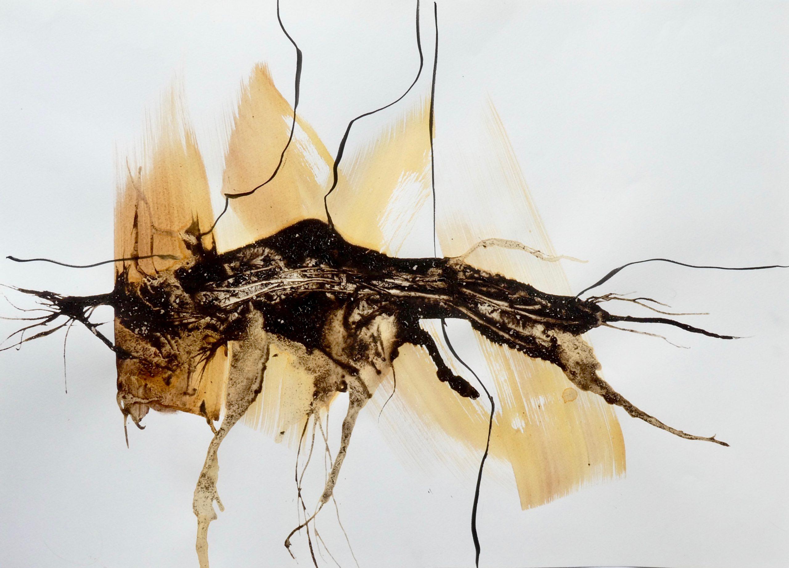o.T. 1 (MT I) Mischtechnik auf Papier - Katharina Hoehler