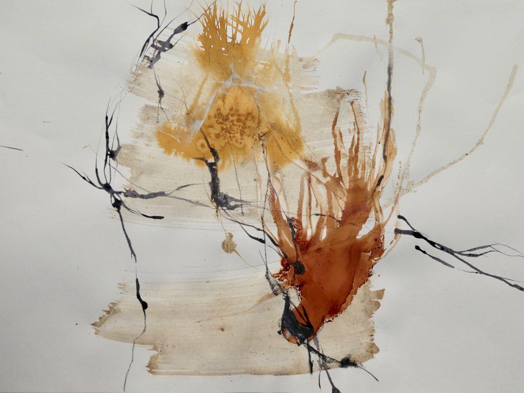 o.T. 3 (MT I) Mischtechnik auf Papier - Katharina Hoehler