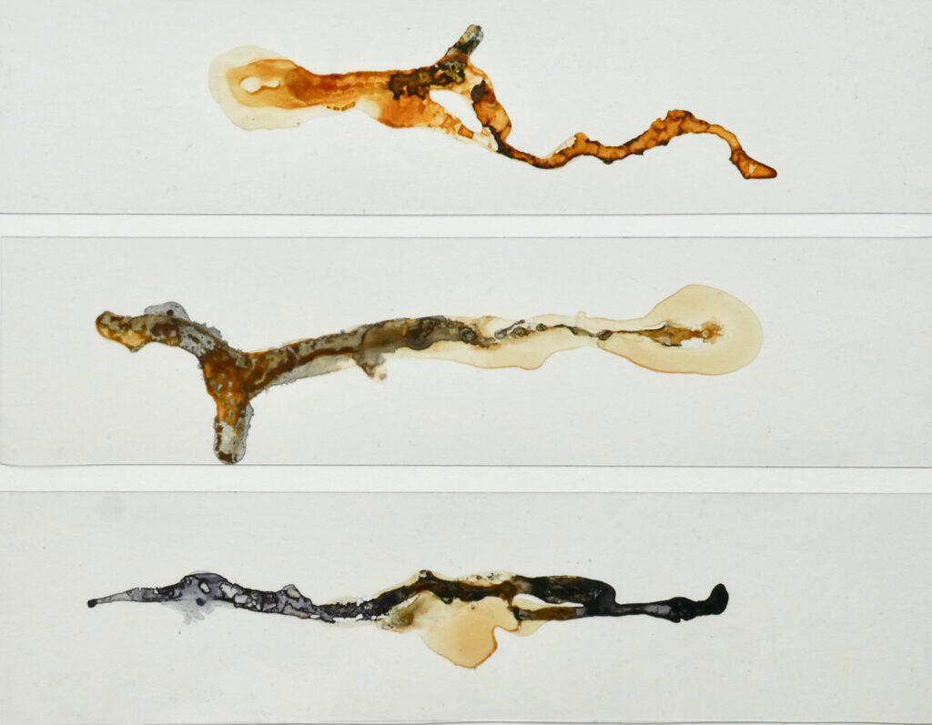 im Fluß 3 - Triple - Katharina Hoehler Malerei