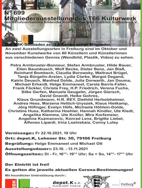BBK Mitgliederausstellung Katharina Hoehler